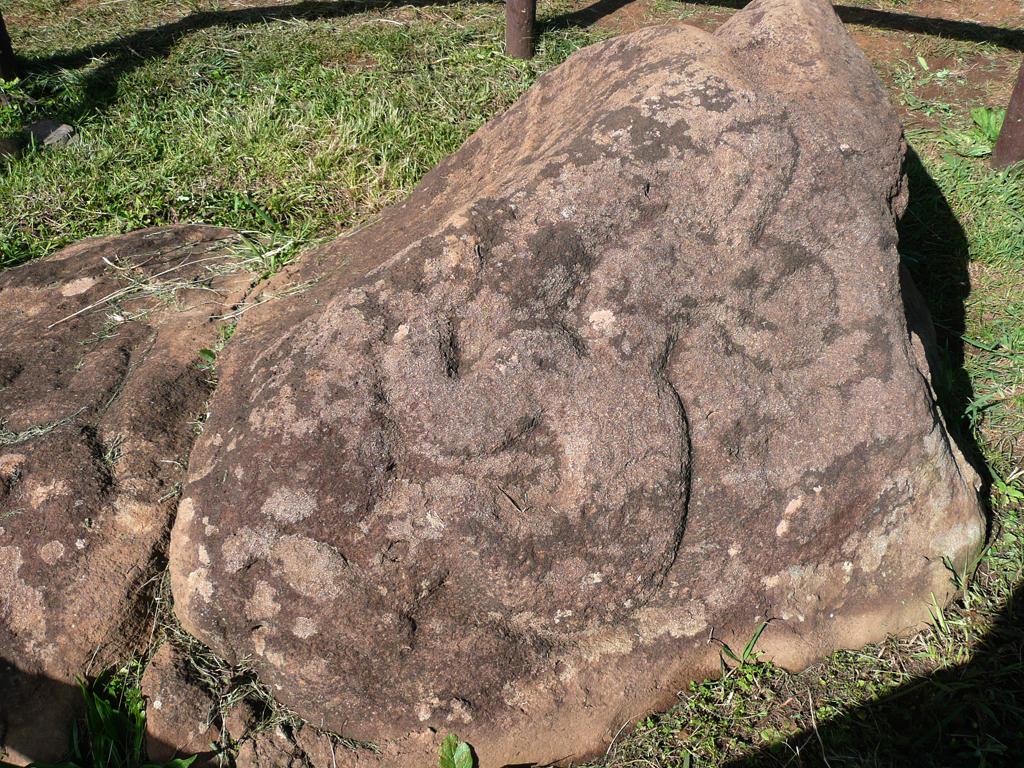 Pétroglyphes sur le site d'Orongo