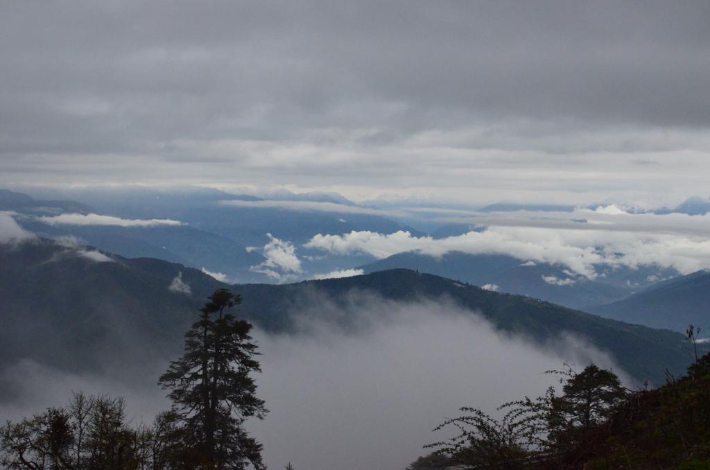 Les montagnes du Bhoutan ... quelque peu encombrées