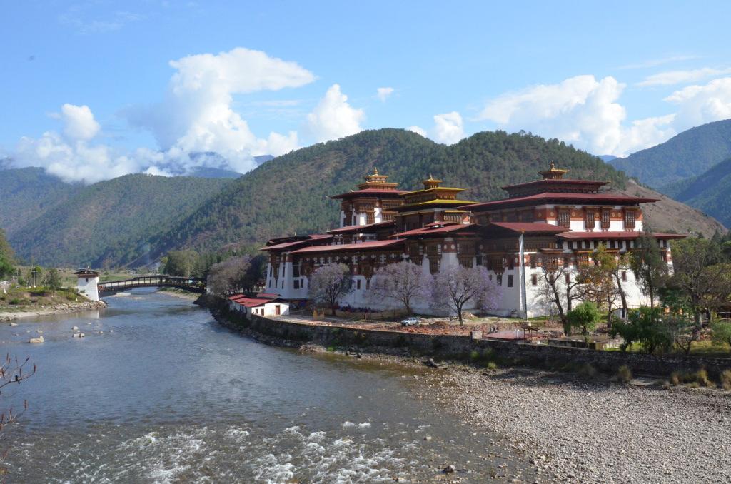 Le majestueux dzong de Punakha